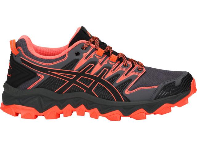 asics Gel-FujiTrabuco 7 Shoes Dam black/flash coral
